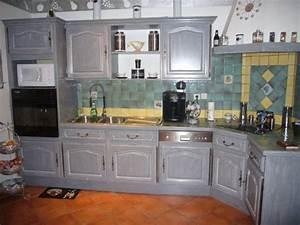 cuisine a christelle et gilou deco interieure peinture With cuisine peinte en gris