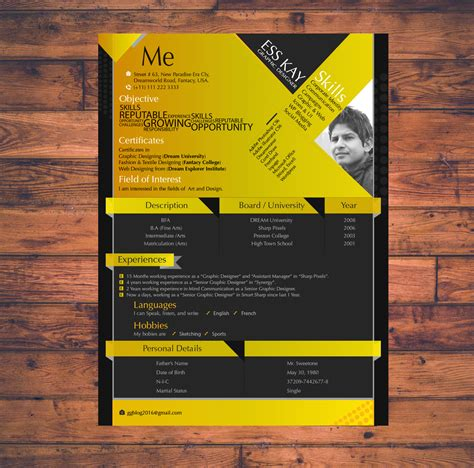 Free Graphic Design Resume Template by 10 Free Resume Templates For Graphic Designers