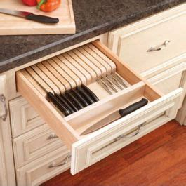 trimmable knife block  divider wood maple wkb