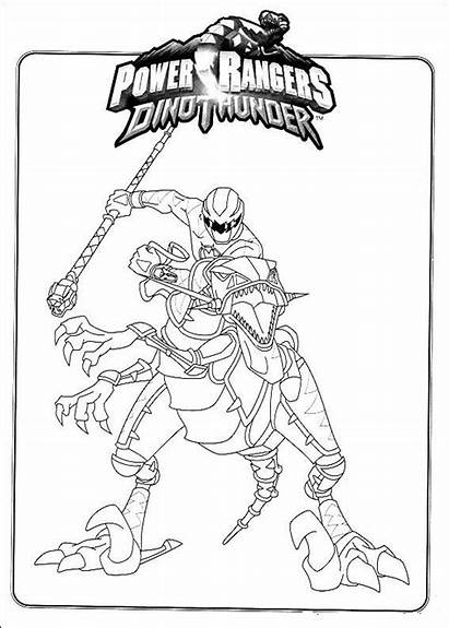 Rangers Power Coloring Pages Children Characters