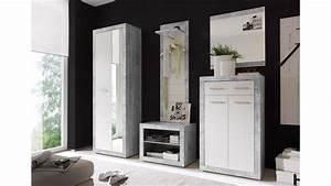 Schuhschrank Grau Weiß : schuhkommode stone schuhschrank in beton optik grau und wei glanz ~ Indierocktalk.com Haus und Dekorationen
