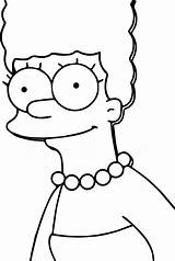 Coloring Simpsons Marge Simpson Drawings Cartoon Awesome Wecoloringpage Draw Colouring Cool Characters Drawing Homer Birijus Sketches Escolha Pasta sketch template