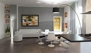 Pittura Soggiorno Grigio: Pittura grigio perla pareti. Pavimento ...