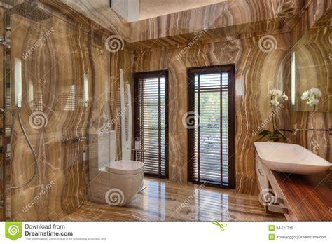 faience marbre salle de bain marble bathroom in modern house royalty free stock photo image 34421715