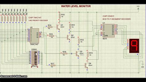 Proteus Hce Water Level Circuit