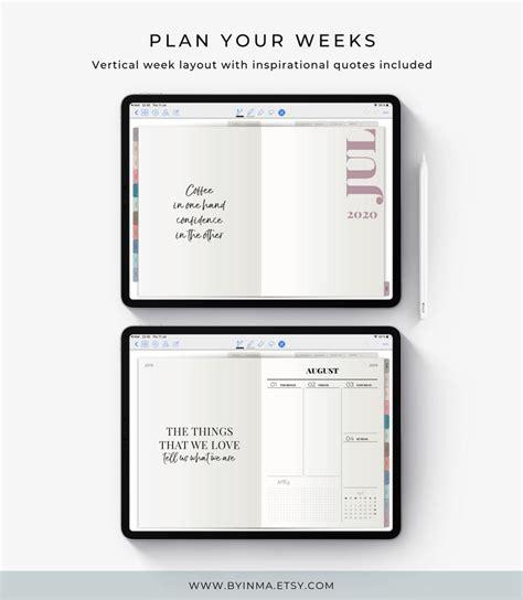 digital planner   ipad planner goodnotes planner