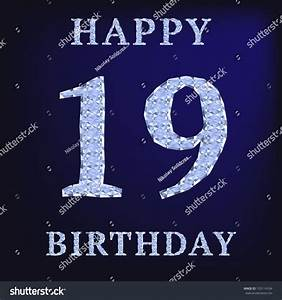 19 Years Happy Birthday Card Stock Illustration 153114104 ...