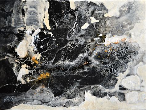 Abstract Black Background Painting by Charming Black Small Original Abstract Painting Milena