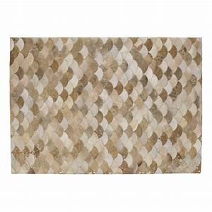tapis en cuir 140 x 200 cm covalper maisons du monde With tapis shaggy avec maison du monde canapé cuir