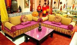 salon oriental deco salon marocain With tapis oriental avec imperméabiliser un canapé en tissu