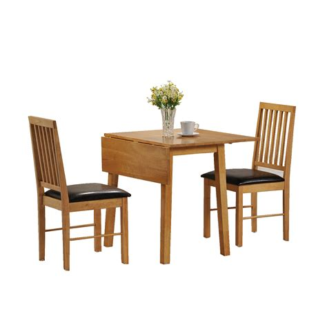 dining table and 2 chairs set 2 seater drop leaf set