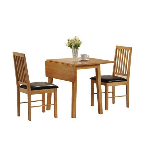 Dining Table And 2 Chairs Set 2 Seater Drop Leaf Set, 2