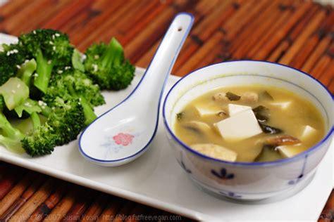 cuisine japonaise calories miso soup and sesame broccoli recipe