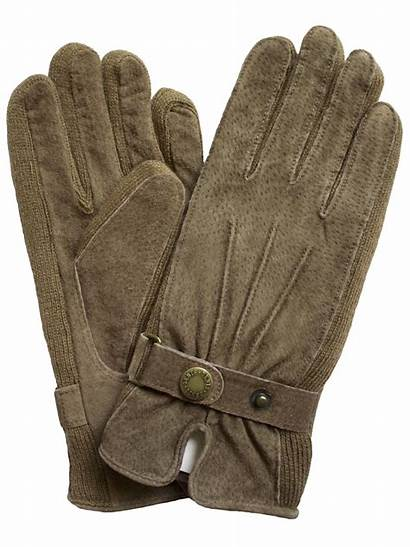 Gloves Suede Dents Womens Knitted Sides Ladies