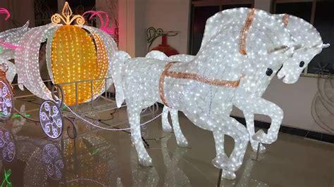 christmas decoration led garden lights horse cinderella