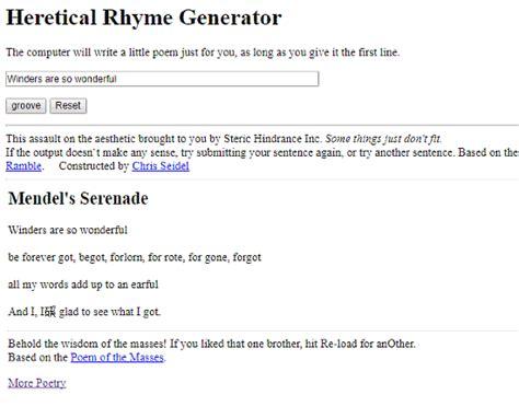 Poems Generator 5 Best Rhyming Poem Generator Websites
