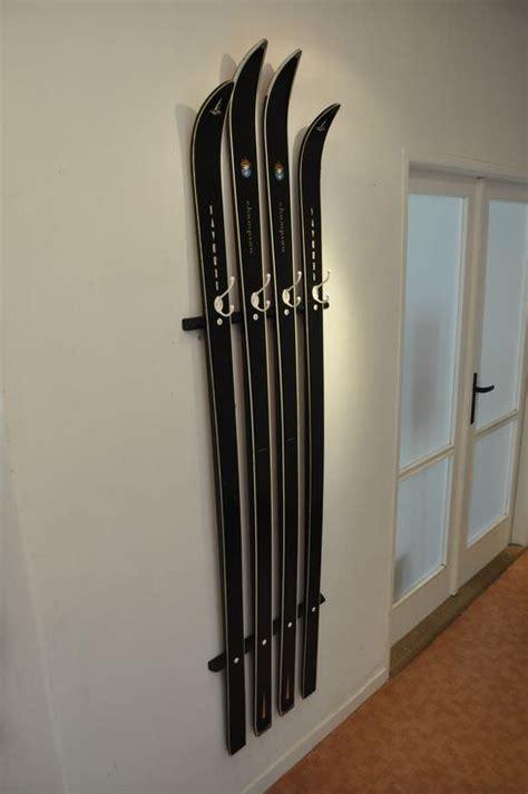skis repurposed  coat hanger gift ideas