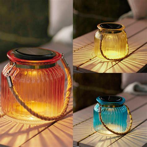 solar deko glas led solar windlicht glas deko laterne tisch dekoration warmwei 223 e beleuchtung ebay