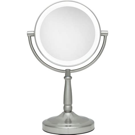 makeup mirror with light 5x 1x cordless dual sided led light vanity mirror by zadro 9112