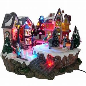 Village De Noel Miniature : maisons lumineuses anim es et musicale pour village miniature de no l ref min102 sur grossiste ~ Teatrodelosmanantiales.com Idées de Décoration