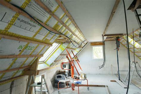 acrot 232 re arase 233 tanche 233 lectricit 233 plafond droit en fermacell et ouate de cellulose souffl 233 e