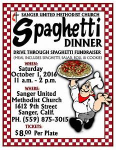 Sanger United Methodist Church Spaghetti Dinner Fundraiser ...