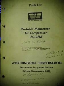Worthington Portable Monorotor Air Compressor 160 Cfm