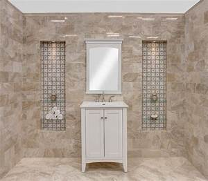 single sink bathroom vanity transitional bathroom With avalon flooring philadelphia