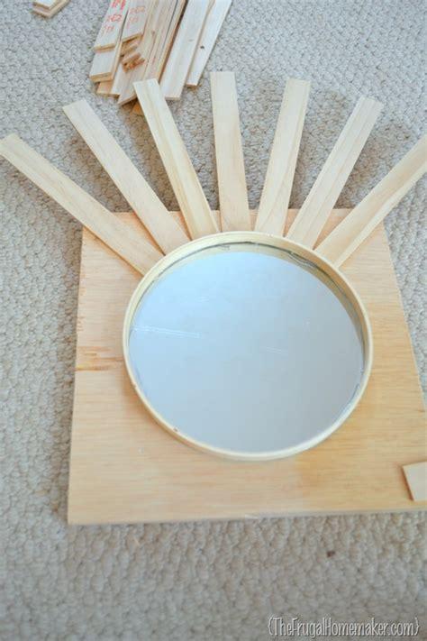 Diy quick and easy wall decor set of mirror + wall sconces. DIY Sunburst Mirror {$4 wall art}