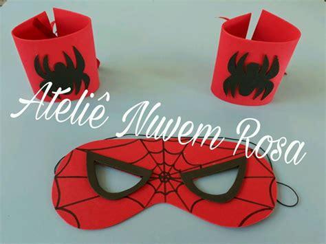 Kit Máscaras e braceletes Homem Aranha no Elo7 Ateliê