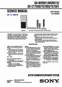 Sony Dar-rh7000 Service Manual