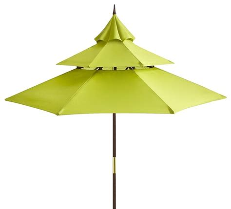 Pagoda Style Patio Umbrella by Citron Pagoda Umbrella Eclectic Outdoor Umbrellas By