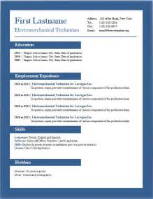 resume template for word cv format in word cv exle