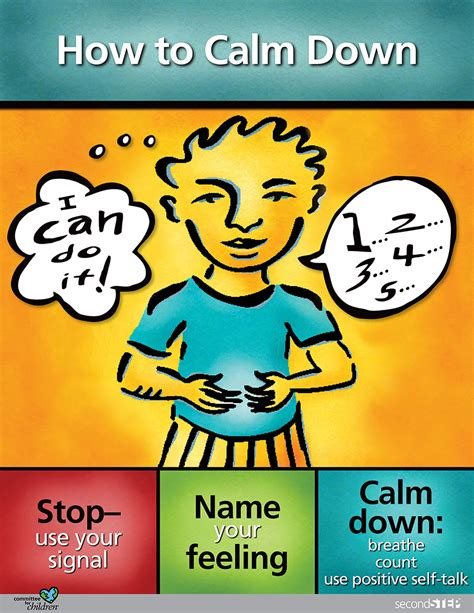 second step sample lessons second step 582 | g2 how to calm down poster