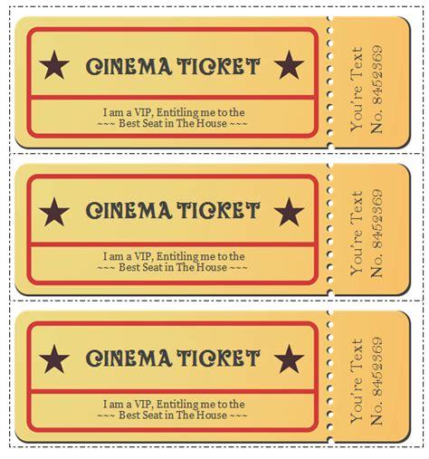 ticket templates  design customized