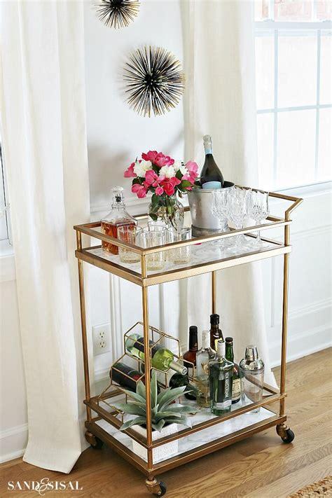 diy faux marble bar cart makeover furniture revival