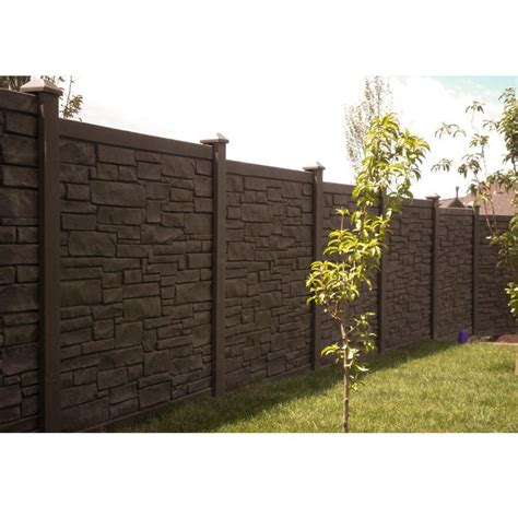 simtek  ft    ft  ecostone dark brown composite fence panel fpxdbr fence panels