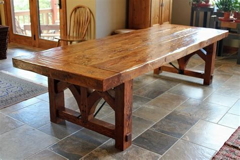 Diy Rustic Farmhouse Dining Table — Cabinets, Beds, Sofas
