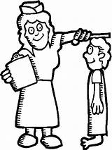 Nurse Coloring Pages Patient Drawing Clipartmag sketch template