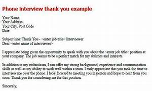 phone interview thank you note sample