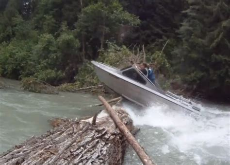 Jet Boat Jumping Beaver Dam by Boat Log Jumping In A Jet Boat In Canada Motor