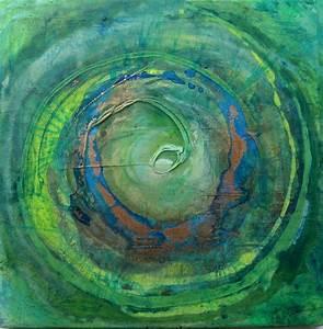 Leinwandbilder Selbst Gemalt : mandala gr nblau acryl gegossen gold auf leinwand kunst in 2019 pinterest abstrakte ~ Orissabook.com Haus und Dekorationen