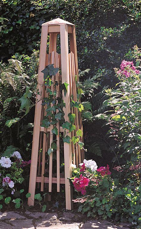 Wooden Garden Trellis by Wood Garden Obelisk Plans Garden Ftempo Model 27
