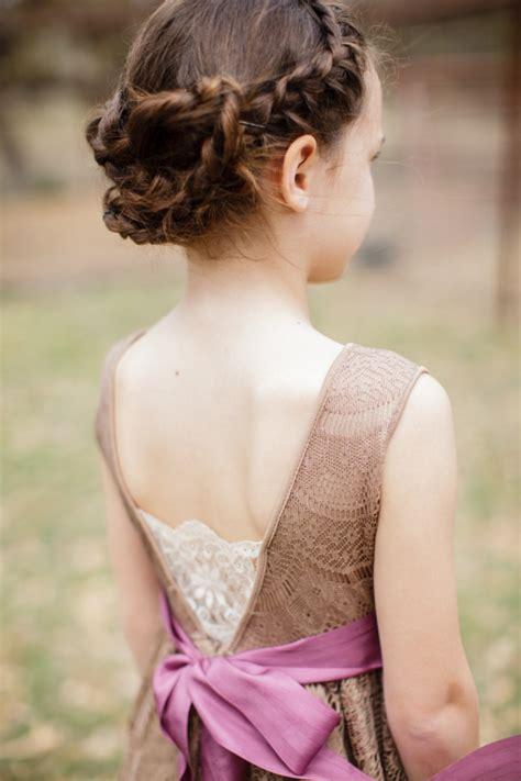 super cute  girl hairstyles  wedding deer pearl flowers