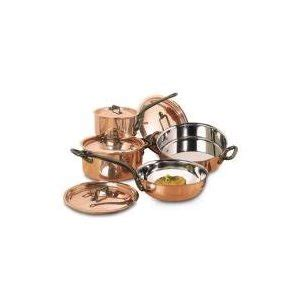 matfer   piece bourgeat copper cookware set  cookware headquarters