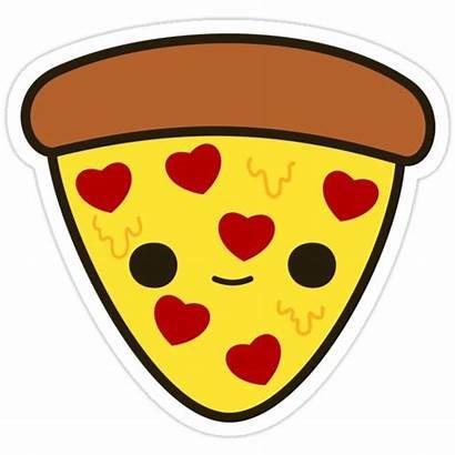 Pizza Heart Toppings Sticker Stickers Cartoon Kawaii