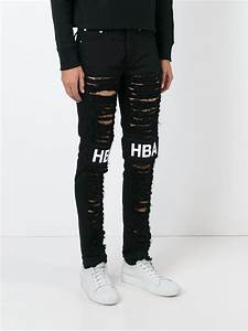 Hood by air Ripped Skinny Jeans in Black for Men | Lyst