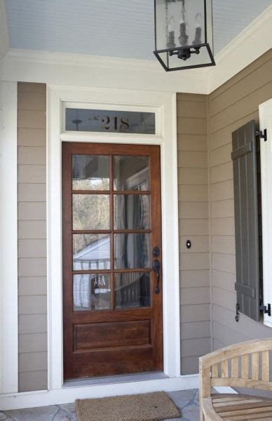 Exterior Door With Window by I The Wooden Front Door With The Transom Window Above
