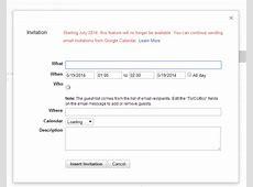 Gmail Will Remove Calendar Invitation Feature