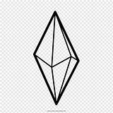 Crystal Mineral Geometric Shape Forms Drawing Icon Coloring Line Figure Wealth Symbol Clip Icons Pngwave sketch template